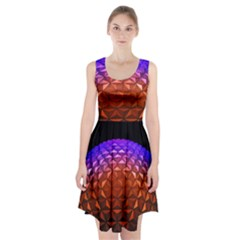 Abstract Ball Colorful Colors Racerback Midi Dress