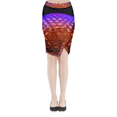 Abstract Ball Colorful Colors Midi Wrap Pencil Skirt