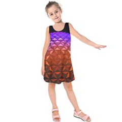 Abstract Ball Colorful Colors Kids  Sleeveless Dress