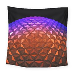 Abstract Ball Colorful Colors Square Tapestry (large)