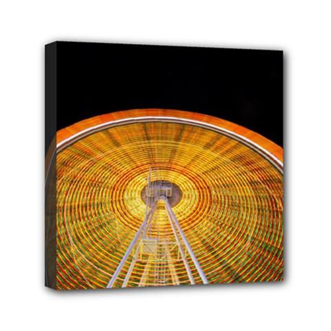 Abstract Blur Bright Circular Mini Canvas 6  X 6