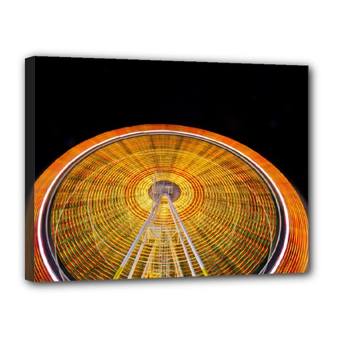 Abstract Blur Bright Circular Canvas 16  X 12
