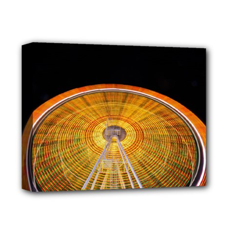 Abstract Blur Bright Circular Deluxe Canvas 14  X 11