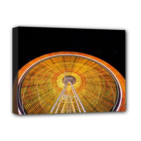Abstract Blur Bright Circular Deluxe Canvas 16  X 12