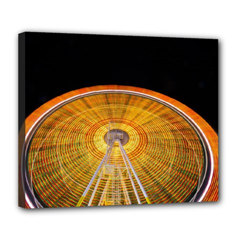 Abstract Blur Bright Circular Deluxe Canvas 24  X 20
