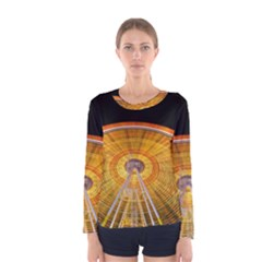 Abstract Blur Bright Circular Women s Long Sleeve Tee