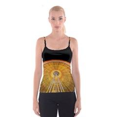 Abstract Blur Bright Circular Spaghetti Strap Top
