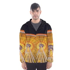 Abstract Blur Bright Circular Hooded Wind Breaker (men)