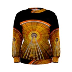 Abstract Blur Bright Circular Women s Sweatshirt