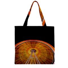 Abstract Blur Bright Circular Zipper Grocery Tote Bag