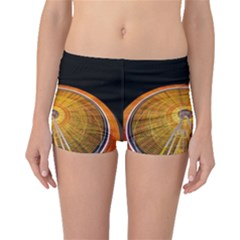 Abstract Blur Bright Circular Boyleg Bikini Bottoms