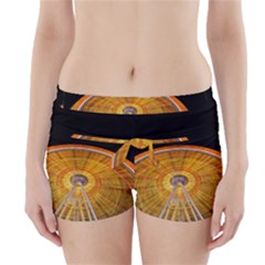 Abstract Blur Bright Circular Boyleg Bikini Wrap Bottoms