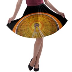 Abstract Blur Bright Circular A Line Skater Skirt