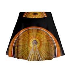 Abstract Blur Bright Circular Mini Flare Skirt