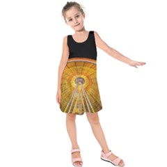 Abstract Blur Bright Circular Kids  Sleeveless Dress
