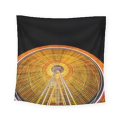 Abstract Blur Bright Circular Square Tapestry (small)