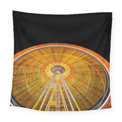 Abstract Blur Bright Circular Square Tapestry (large)