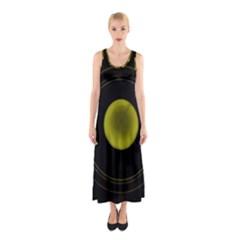 Abstract Futuristic Lights Dream Sleeveless Maxi Dress