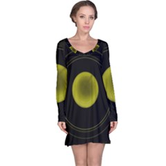 Abstract Futuristic Lights Dream Long Sleeve Nightdress