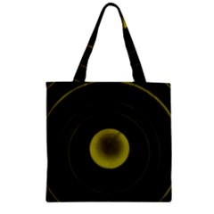 Abstract Futuristic Lights Dream Zipper Grocery Tote Bag