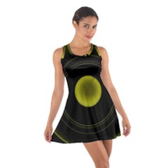 Abstract Futuristic Lights Dream Cotton Racerback Dress