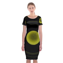 Abstract Futuristic Lights Dream Classic Short Sleeve Midi Dress