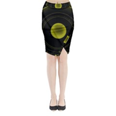 Abstract Futuristic Lights Dream Midi Wrap Pencil Skirt