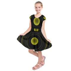 Abstract Futuristic Lights Dream Kids  Short Sleeve Dress