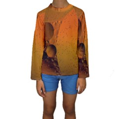 Abstraction Color Closeup The Rays Kids  Long Sleeve Swimwear