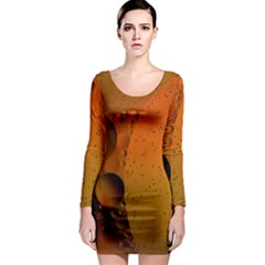 Abstraction Color Closeup The Rays Long Sleeve Bodycon Dress