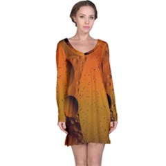 Abstraction Color Closeup The Rays Long Sleeve Nightdress