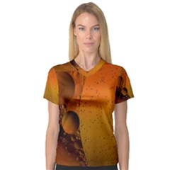 Abstraction Color Closeup The Rays Women s V Neck Sport Mesh Tee