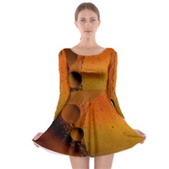 Abstraction Color Closeup The Rays Long Sleeve Skater Dress