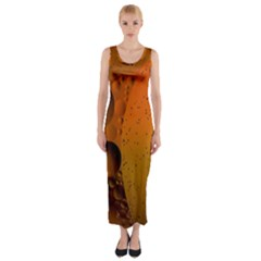Abstraction Color Closeup The Rays Fitted Maxi Dress