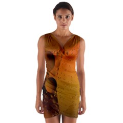 Abstraction Color Closeup The Rays Wrap Front Bodycon Dress