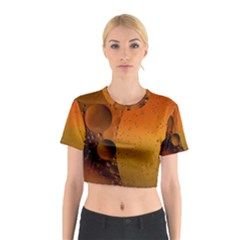 Abstraction Color Closeup The Rays Cotton Crop Top
