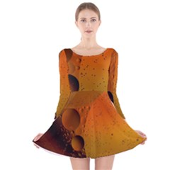 Abstraction Color Closeup The Rays Long Sleeve Velvet Skater Dress