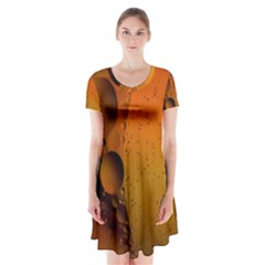 Abstraction Color Closeup The Rays Short Sleeve V Neck Flare Dress