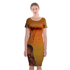 Abstraction Color Closeup The Rays Classic Short Sleeve Midi Dress