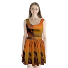 Abstraction Color Closeup The Rays Split Back Mini Dress
