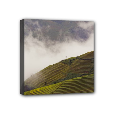 Agriculture Clouds Cropland Mini Canvas 4  X 4