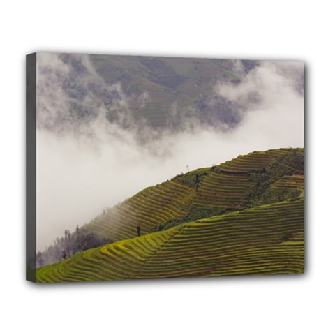 Agriculture Clouds Cropland Canvas 14  X 11