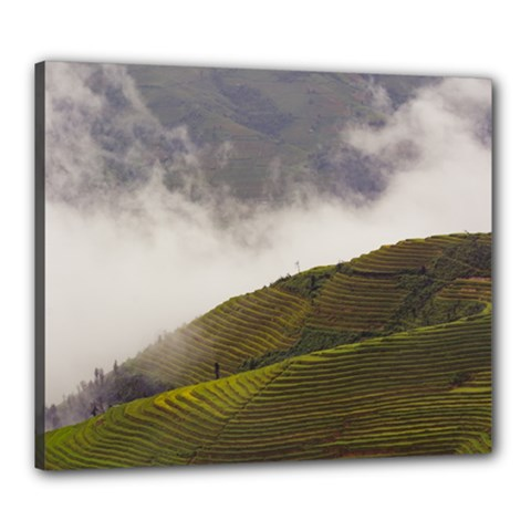 Agriculture Clouds Cropland Canvas 24  X 20