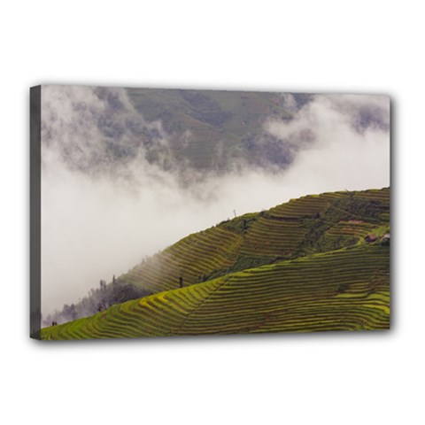 Agriculture Clouds Cropland Canvas 18  X 12