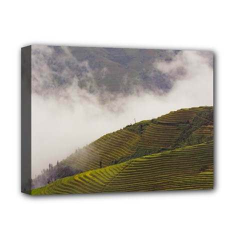 Agriculture Clouds Cropland Deluxe Canvas 16  X 12