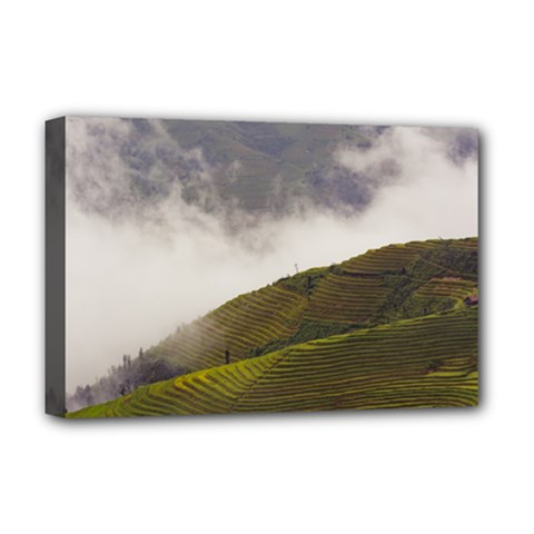 Agriculture Clouds Cropland Deluxe Canvas 18  X 12