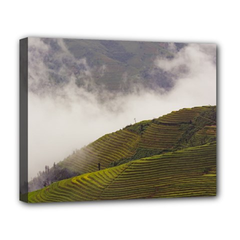 Agriculture Clouds Cropland Deluxe Canvas 20  X 16