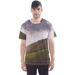 Agriculture Clouds Cropland Men s Sport Mesh Tee