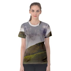Agriculture Clouds Cropland Women s Sport Mesh Tee