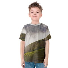 Agriculture Clouds Cropland Kids  Cotton Tee